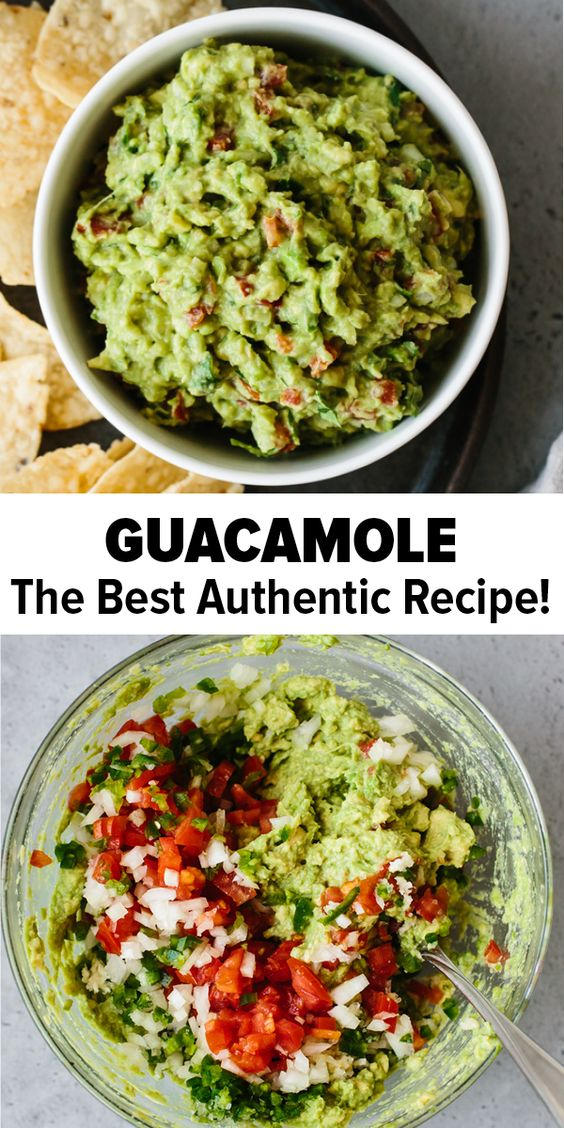 This is the BEST guacamole recipe as it's is simple to make and uses fresh, high quality ingredients. Authentic guacamole doesn't contain fillers and unnecessary ingredients. All you need is avocados, onion, tomatoes, cilantro, jalapeno pepper, lime juice, garlic and salt. Easy and delicious!