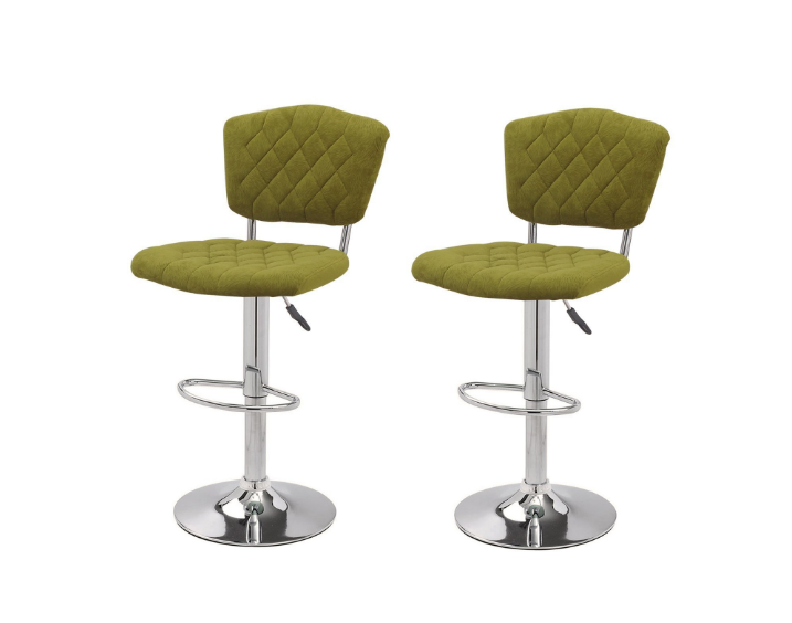 Joveco Modern Adjustable Swivel Bar Stools, Set of Two (Dark Green)