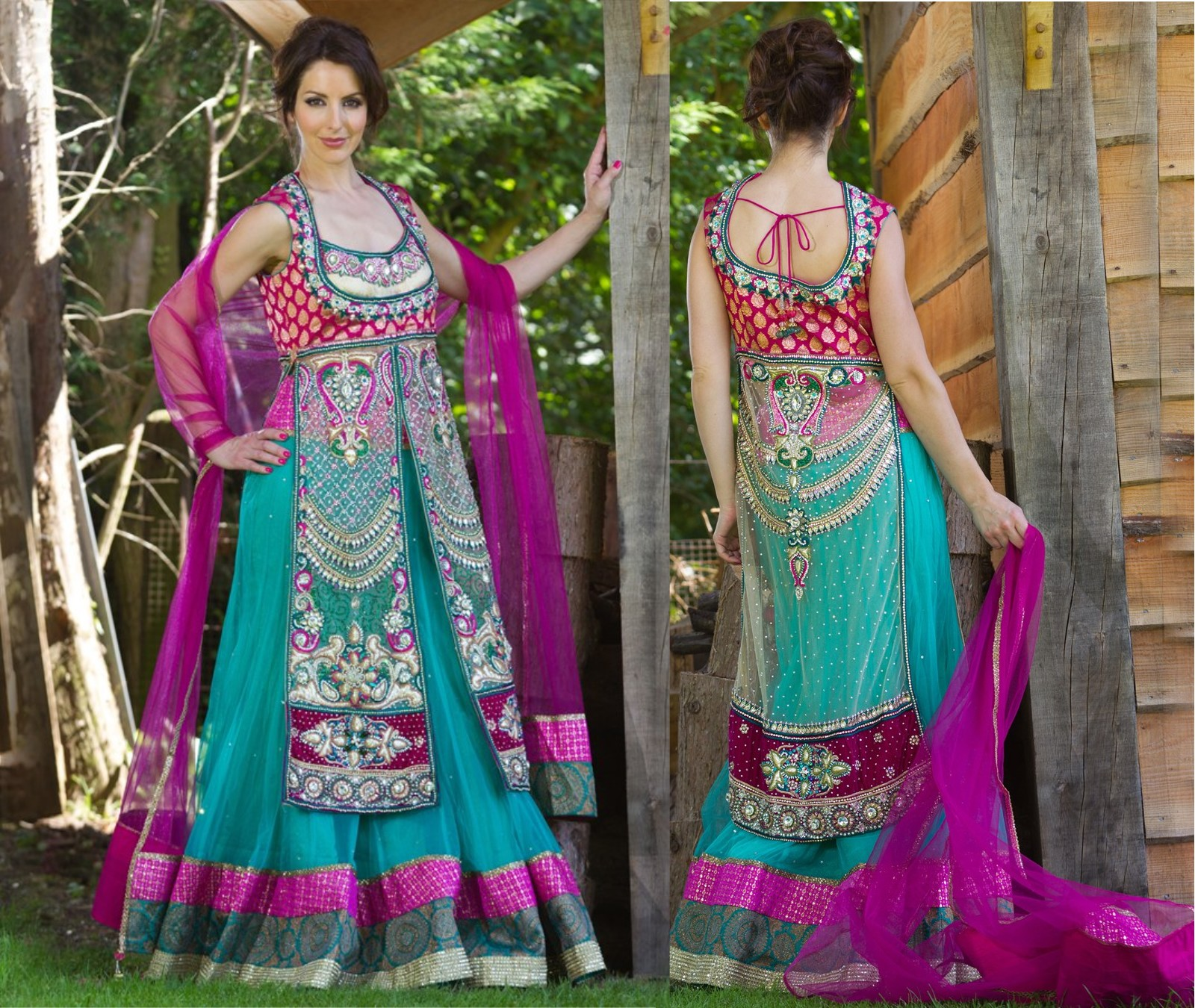 This Colorful Dress Is Cultural Gharara StyleMade With Georgette And