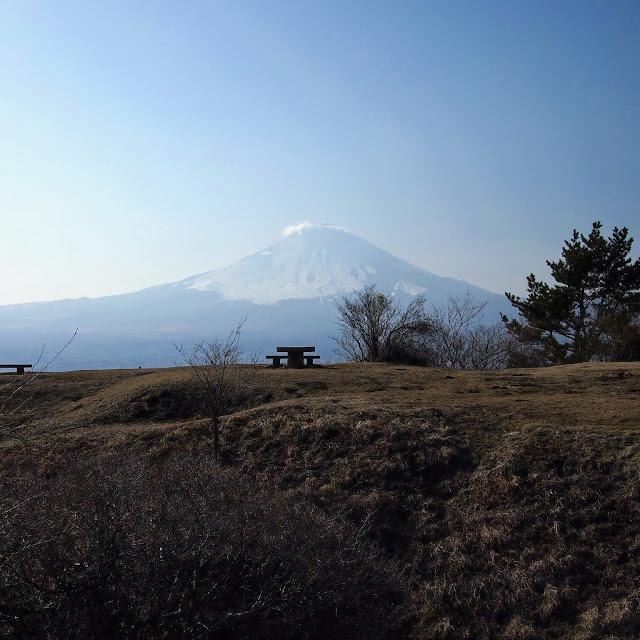 足柄峠 足柄城跡 富士山