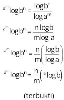 Pembuktian sifat-sifat logaritma