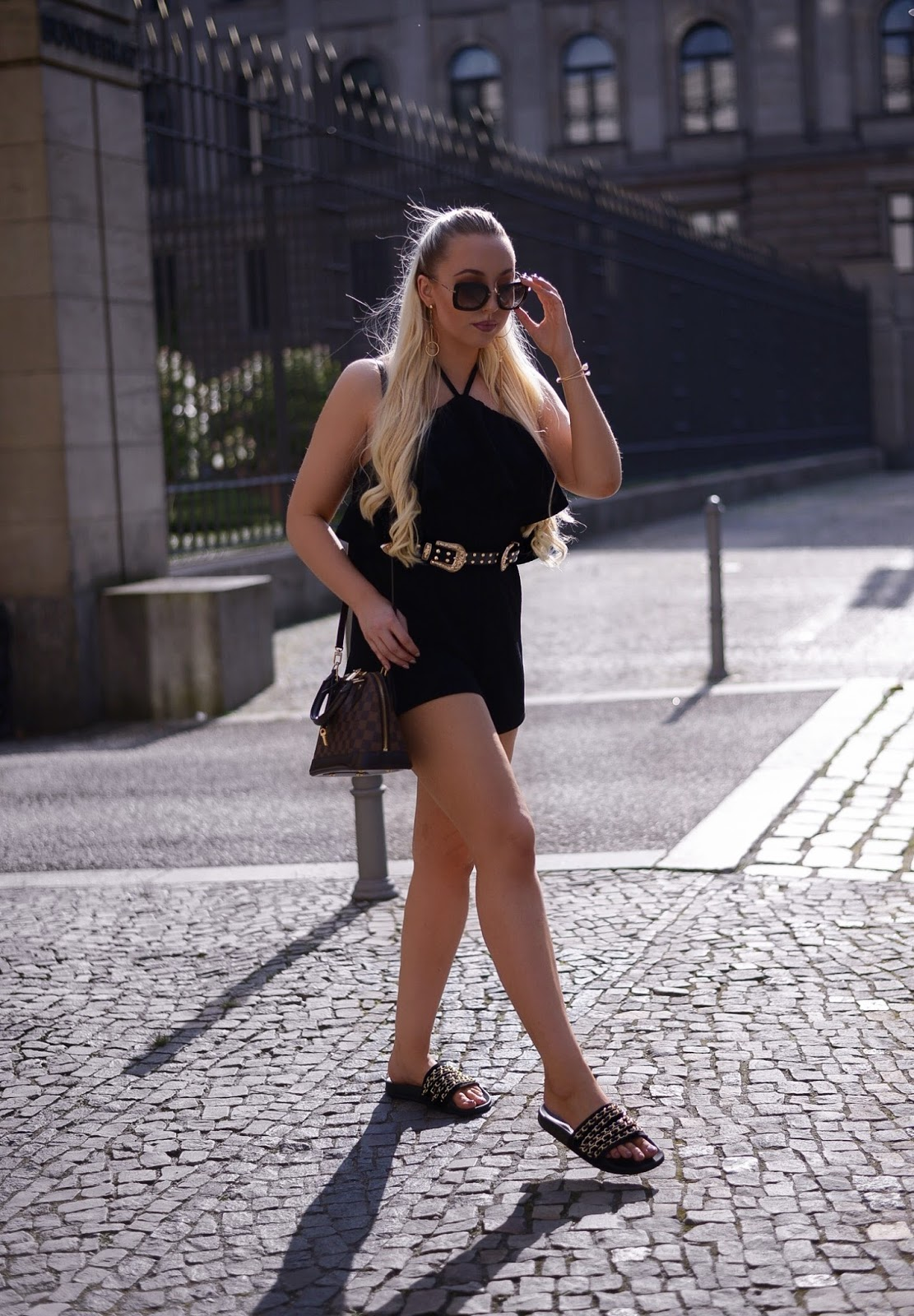 black playsuit_misspap playsuit_all black outfits_summer outfit inspiration