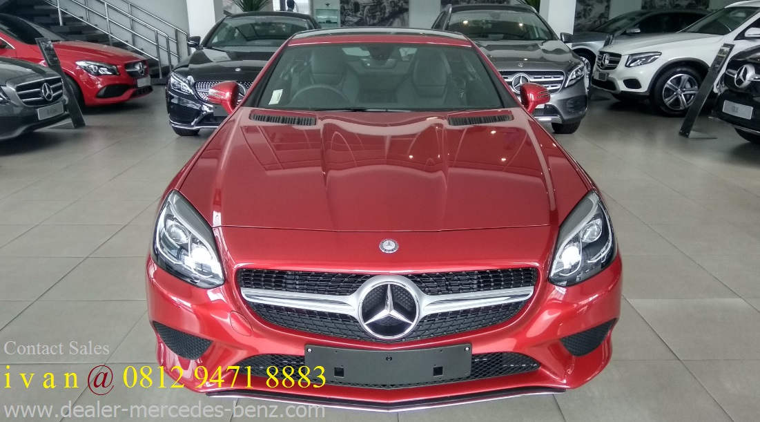 New slc 200 2017 hyacith red indonesia dealer mercedes for Mercedes benz service b coupons 2017