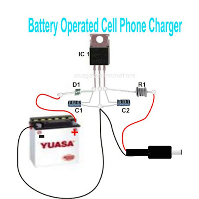 smartphone charger circuit from 6V battery