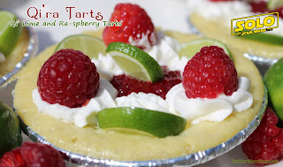 Qi'ra Tarts - Qi' Lime and Ra-spberry Tarts. Star Wars Recipe and Food Label
