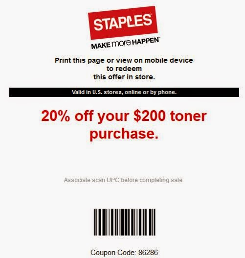 staples coupons 2018