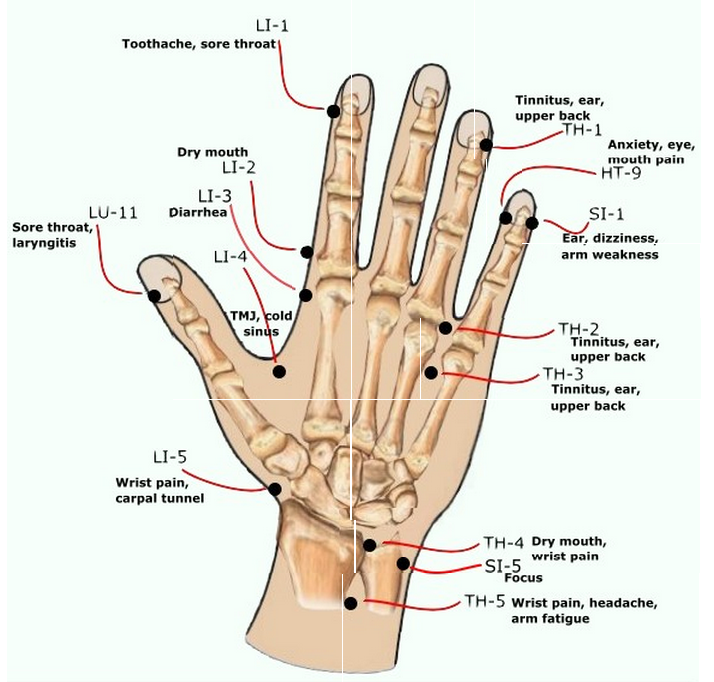 Health>Mind+Body: Acupressure Points of the Hand