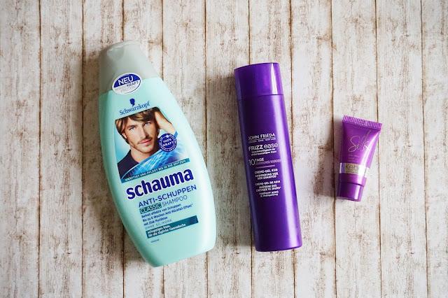 Schauma - Anti-Schuppen Classic Shampoo  John Frieda - Frizz ease 10 Tage Bändigungswunder  Kebelo - Silk Anti-Frizz Cream
