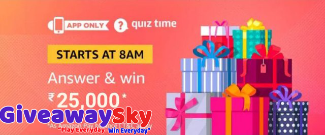 Amazon Today Quiz Answers Win a Rs  25,000 Amazon Pay