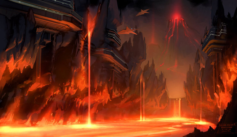Film Sketchr Burn With Star Wars 3 Concept Art By Ryan Church
