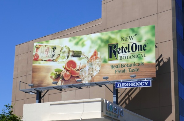 Ketel One Botanical Grapefruit Rose vodka billboard