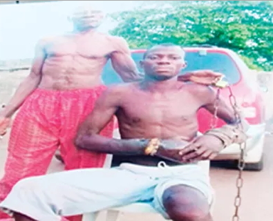 man chained son agege lagos