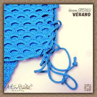 вязаное крючком Бикини СIRCULO Verano завязки