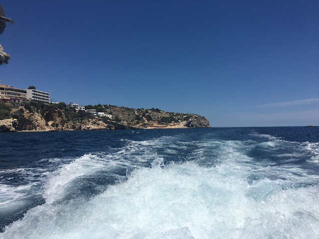 Ibiza Town View From A Boat
