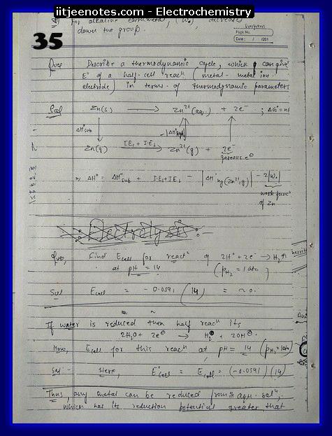 Electrochemistry Notes IITJEE5