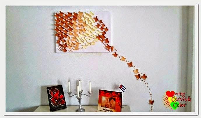 Mariposas de cartulina - Como hacer mariposas de papel para decorar paredes ...