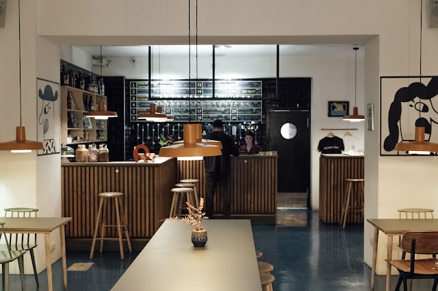 mikkeller craft beer bar interior in barcelona