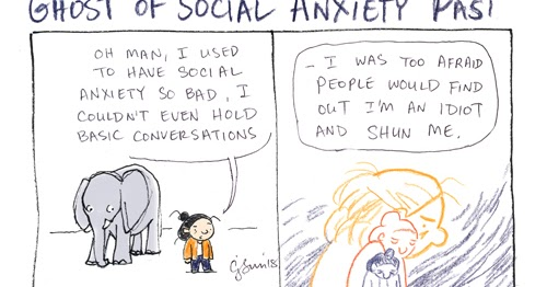 Cartoon Connie Comics Blog: Ghost of Social Anxiety Past