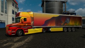 Ice Wolf Scania T skin + trailer