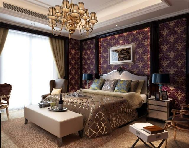 A Light and Spacious bedroom with a Warm Interior in Kiev