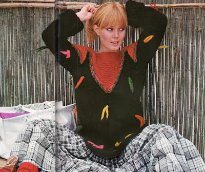 The Vintage Pattern Files: Free 1970's Knitting Pattern - Le Noir Le Plus Joyeux