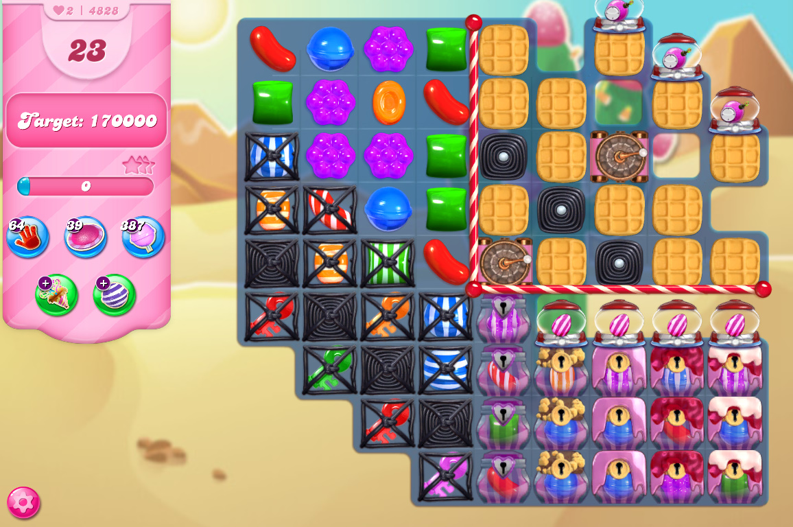 Candy Crush Saga level 4828
