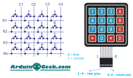 How to Read Keypad with Arduino ~ Arduino Geek