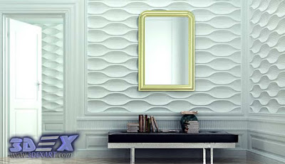 3d gypsum wall panels, 3d plaster wall paneling design, luxury wall panels