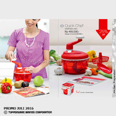Quick Chef ~ Katalog Tupperware Promo Juli 2016