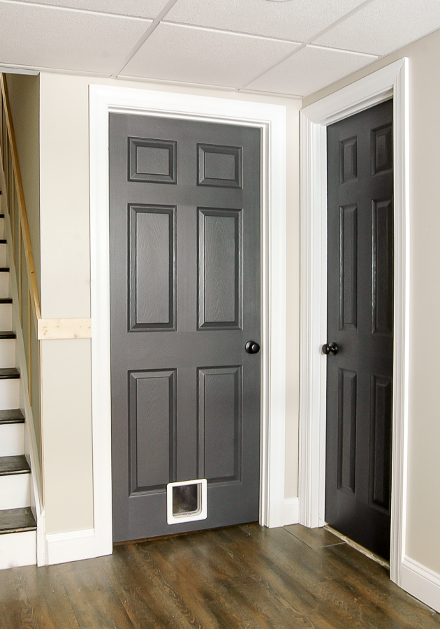 Sherwin-Williams painted basement doors