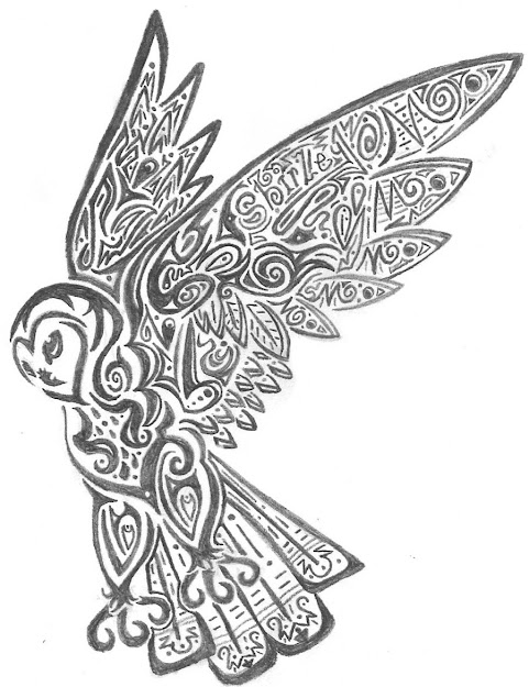 Owl Coloring Pages Free Printables  Tribalowlbycrimsonbluewolf
