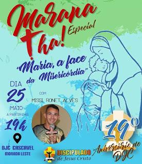 Celebre o mês mariano e o aniversário do DJC conosco!