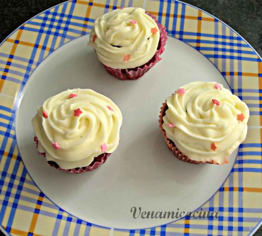 Red velvet cupcakes sin gluten