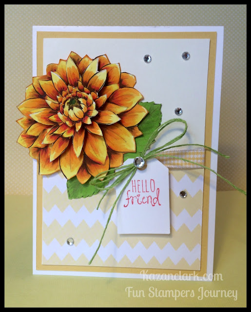 FSJ Dahlia Burst Stamp of the week & Free Card Kit Offer
