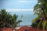 Negombo - Blick vom Hotel an den Strand