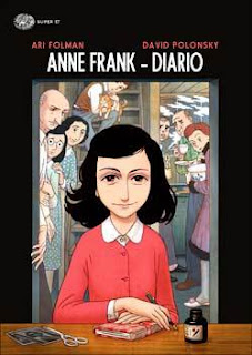 copertina graphic novel diario anne frank