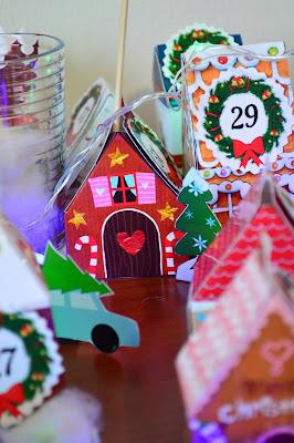 gingerbread house paper, gingerbread house, новогодние домики для календаря, календарь своими руками на новый год, адвент календарь, новогодний календарь