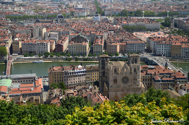 Lyon, vue de la cathédrale de Fourvière