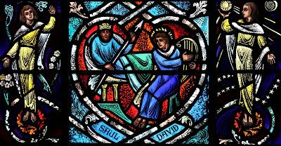 Imagem de Davi e Saul, vitral, #1