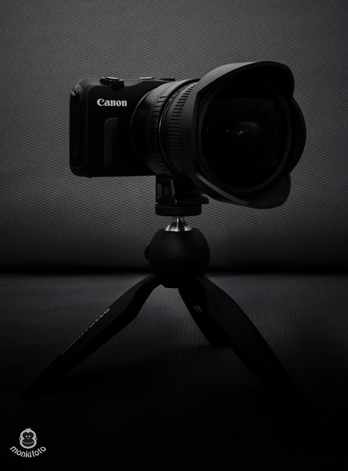 Canon EOS M with Manfrotto Pixi