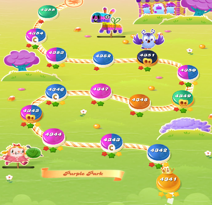 Candy Crush Saga level 4341-4355