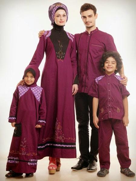 Contoh Baju Muslim Lebaran Untuk Keluarga