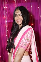 Adaa Sharma in White Pink Saree at Zee Telugu Apsara Awards 2017 13.JPG