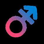 性別記号のイラスト(トランスジェンダー)