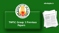 TNPSC Group 3 Previous Papers