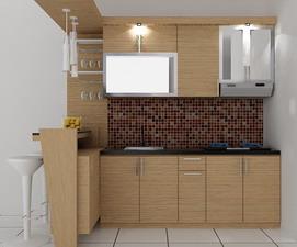 kitchenset pelangi desain interior meja bar kecil