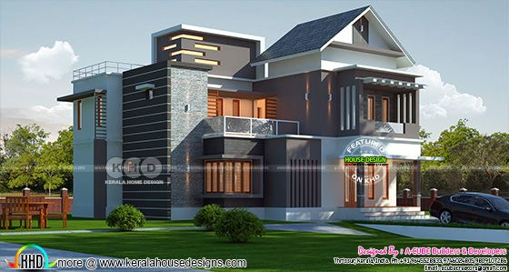 2310 square feet 4 bedroom mixed roof modern home