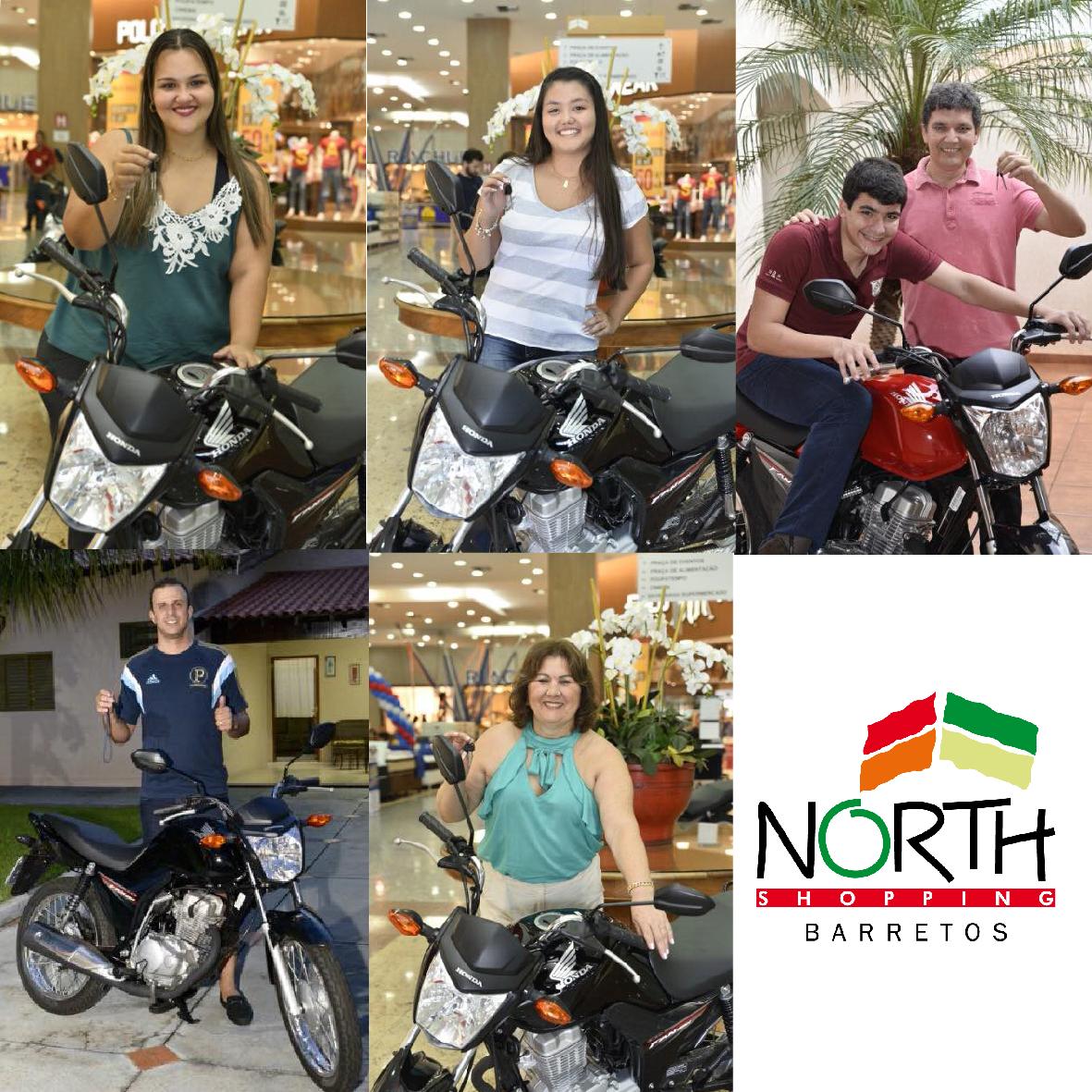 a7e9fe7d985 Motos sorteadas pelo North Shopping Barretos na campanha Natal no Polo North  foram entregues