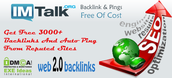 Get Free 3000+ Backlinks And Auto Ping From Reputed Sites