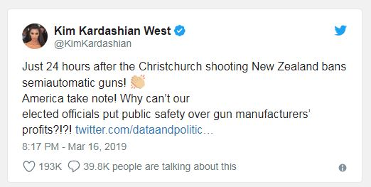Kim Kardashian hit with brutal reality check after using New Zealand massacre to push gun control